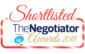 Shortlisted for The Negotiator Awards 2018