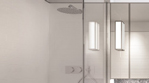 Chrome Framed Glass Bath Screen